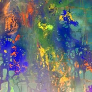 Kunstwerk: Bunte Unterwasserwelt