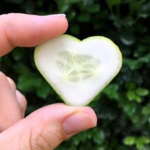 Gurke in Herzform
