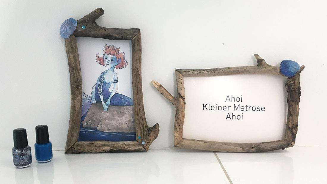 Treibholzrahmen im Bad mit Meerjungfrau von Frau Annika